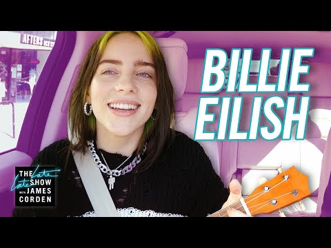 Catalina - Billie Eilish Plays '8' on a Ukulele in Carpool Karaoke and It's Dreamy