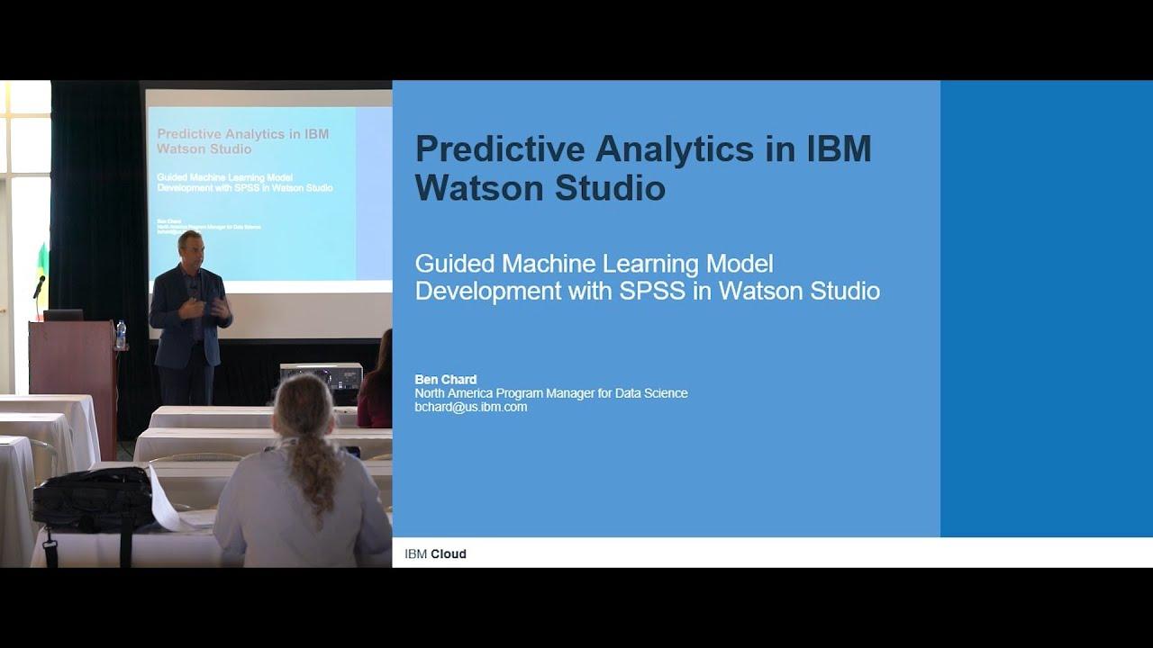 Predictive Analytics in IBM Watson Studio - YouTube