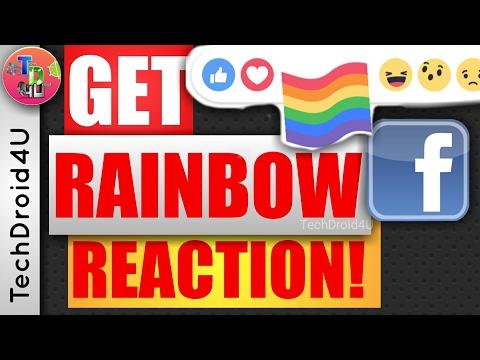 How to get Facebook Rainbow/Pride Reaction? Facebook Rainbow like | Pride emoji | TechDroid4U