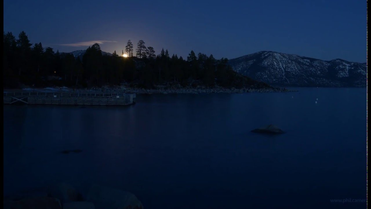 Full Moon Rising over Lake Tahoe tonight - 2/22 - YouTube