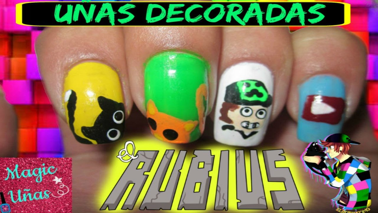 Uñas decoradas ElRUBIUS - YouTube