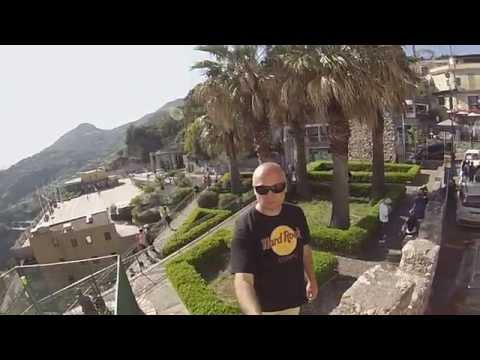 Taormina Sicilia view Hotel Excelsior 2015 Gopro3HD