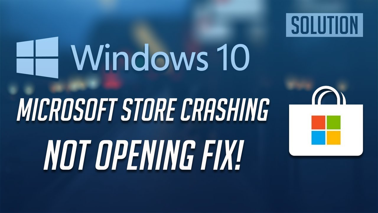 Windows 10 How to Fix Windows Store Download Problems and Store Crashes  [2019]