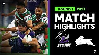 Storm v Rabbitohs Match Highlights   Round 1, 2021   NRL
