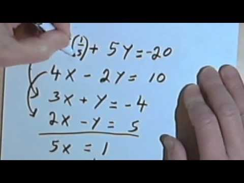 Systems of Equations Worksheet - bc - YouTube
