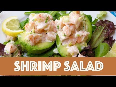 Shrimp Salad Stuffed Avocados -- The Frugal Chef
