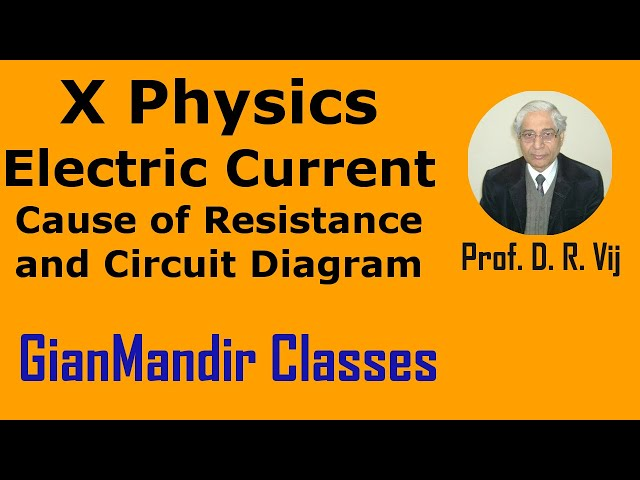 X Physics | Electric Current | Cause of Resistance and Circuit Diagram by Amrinder Sir