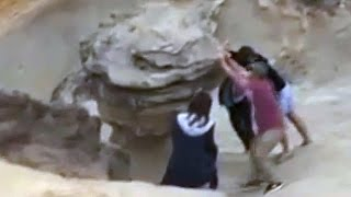 Men Caught Pushing Ancient Rock Formation Believed To Be Millions of Years Old
