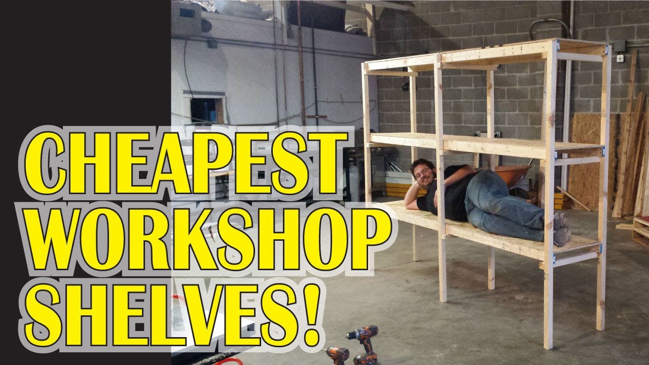 Superbe Garage Workshop Shelves For $20   YouTube