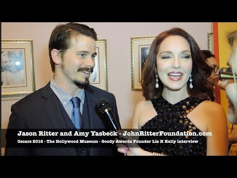 Oscars 2016 Jason Ritter and Amy Yasbeck John Ritter Foundation