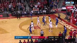 Highlights: Seton Hall at Nebraska | Big Ten Basketball