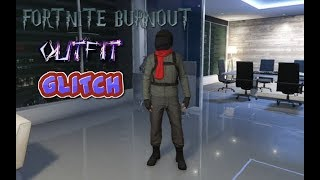 GTA 5 MODDED FORTNITE BURNOUT OUTFIT GLITCH WITH BIKER HELMET N RED SCARF