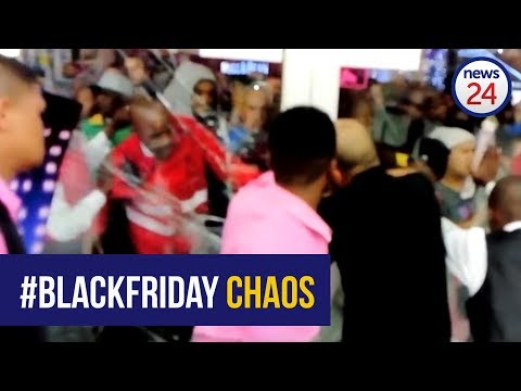 WATCH: Glass doors shatter during midnight #BlackFriday stampede at Cape Town Game