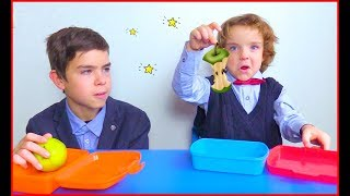 Who ate my lunch? Makar and Niki go to school