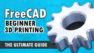 FreeCAD For Beginners p.1 - UI, Sketching, Constraints, Extruding, and 3D Printing