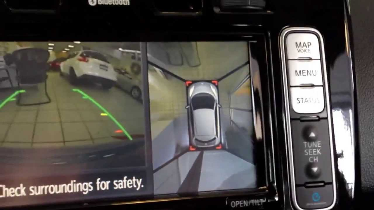 Nissan Leaf Cool Camera Feature Birds Eye View Youtube