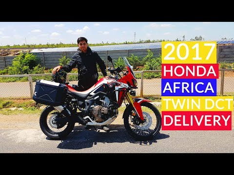 Taking Delivery Of My New Victory Red 2017 Honda Africa Twin DCT - India