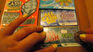 Winning on irish scratchcards - my first scratchcard video!
