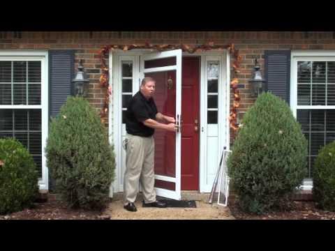 Secure Breeze Laminated Glass Security Storm Door