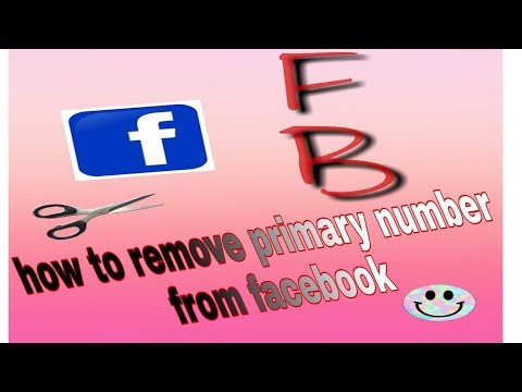 How to Remove primary mobile number from facebook
