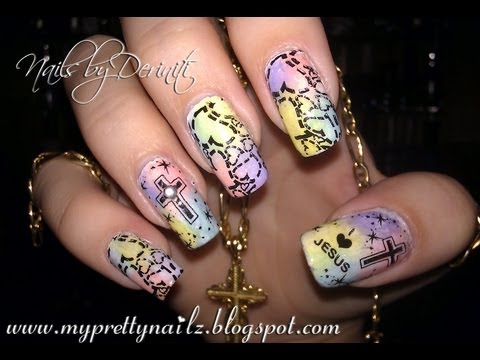CHRISTIAN EASTER NAIL ART DESIGN TUTORIAL - I LOVE JESUS NAILS - CHRISTIAN EASTER NAIL ART DESIGN TUTORIAL - I LOVE JESUS NAILS - YouTube