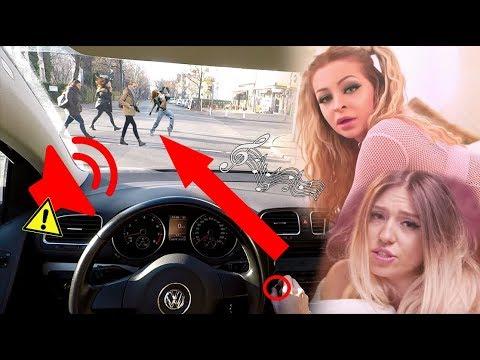 KATJA - DOGGY VOLL AUFDREHEN IM AUTO! Reaktion von der Straße
