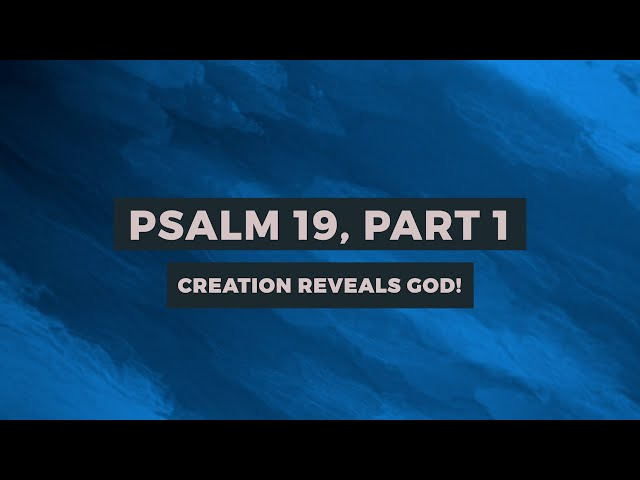 PSALM 19:CREATION REVEALS GOD! (PART-1)| Sam P. Chelladurai | Weekly Prayer | AFT Church|30-Oct-2020