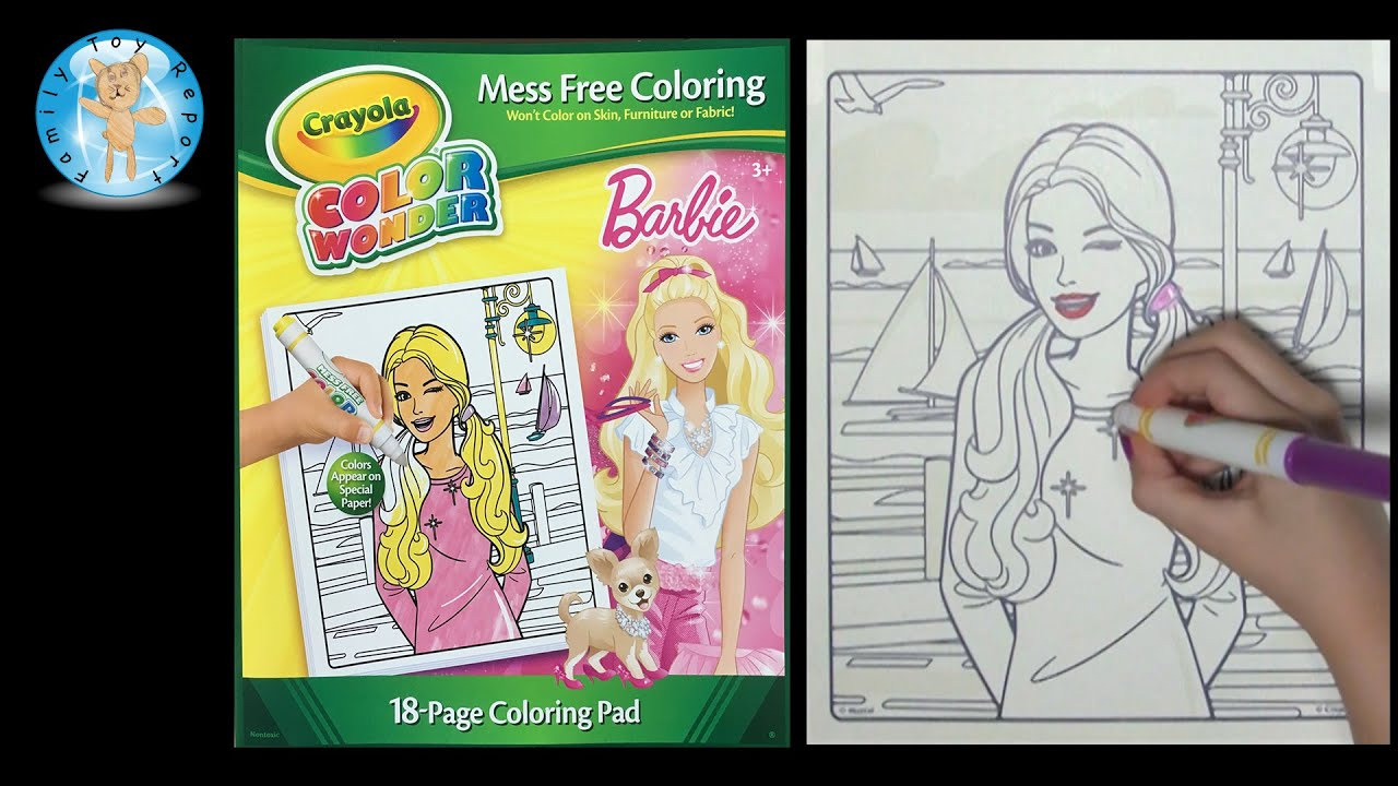 Crayola Color Wonder Barbie Coloring Book Sailboat Family Toy
