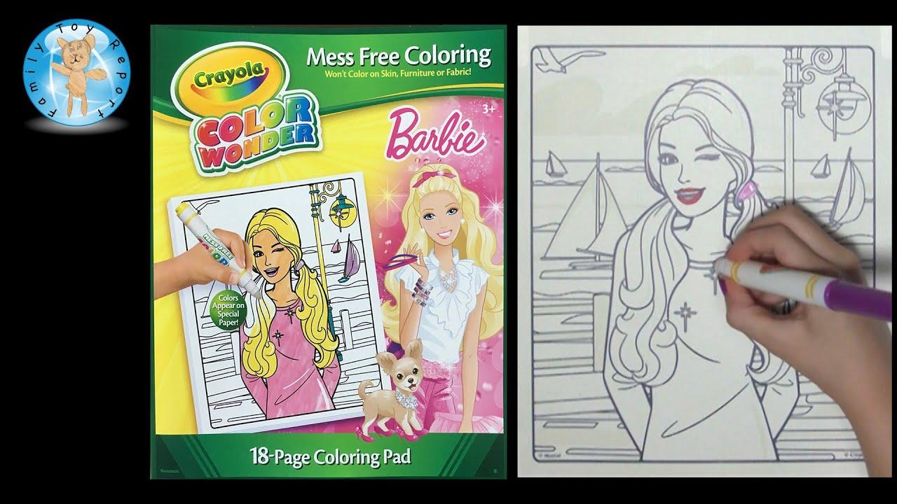 crayola color wonder barbie coloring book sailboat family toy report - Color Wonder Coloring Books