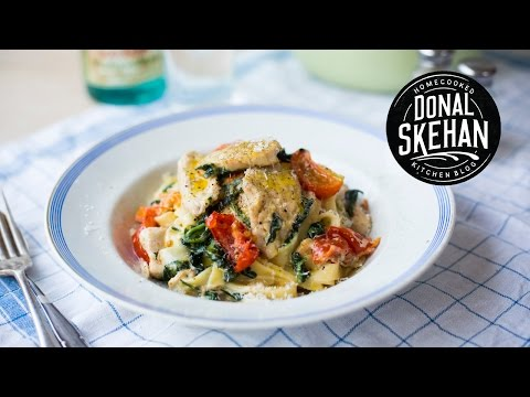Creamy Chicken & Spinach Pasta!