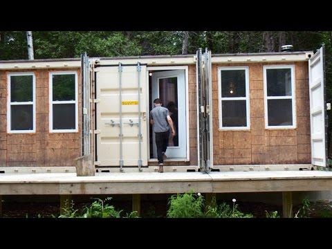 Ottawa man converts shipping containers into secluded bachelor pad