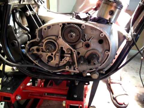 BSA Lightning timing side repairs - YouTube