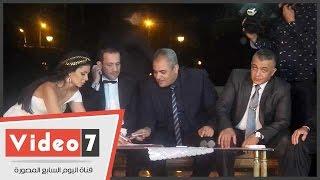 بالفيديو.. نجلاء بدر فى عقد قرانها: