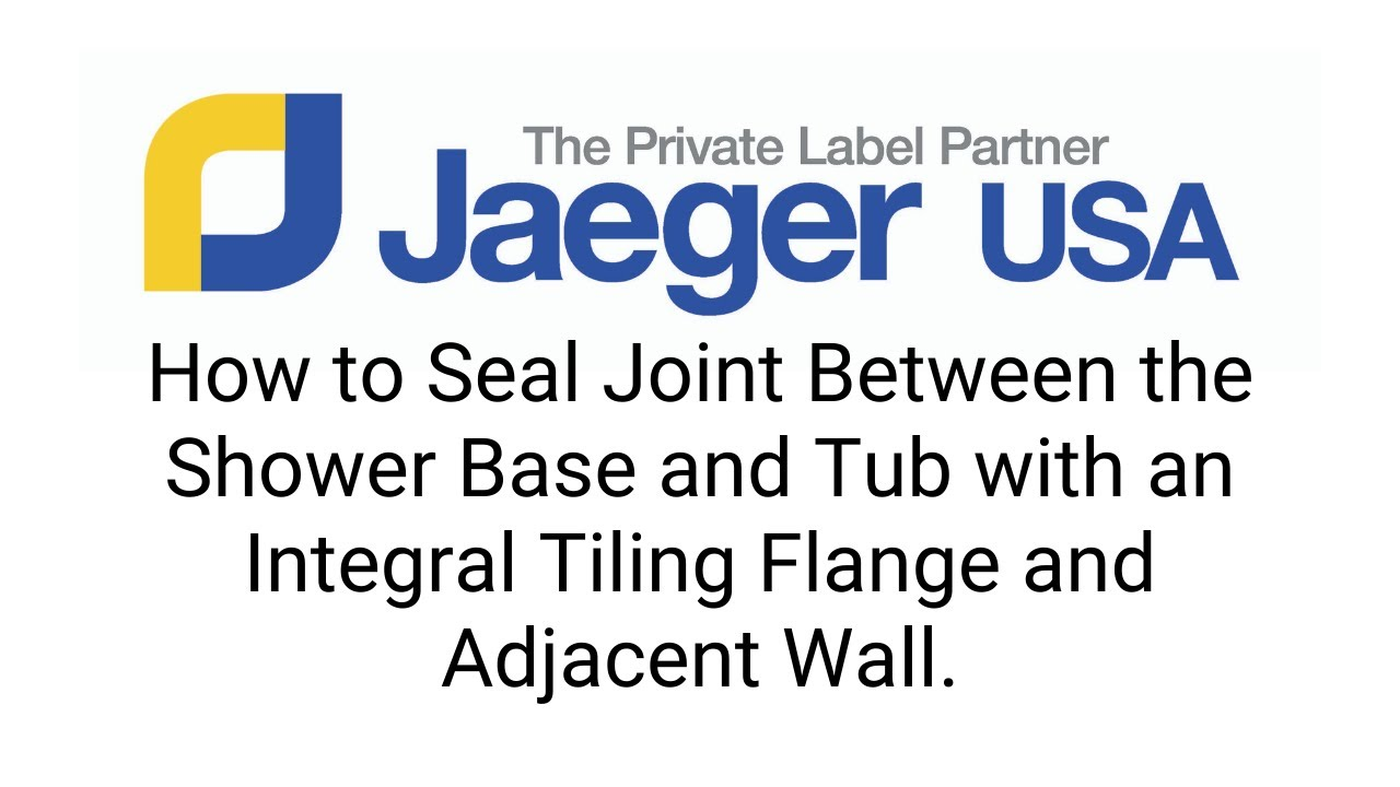 How to Seal Joint Between the Shower Base and Tub with an Integral Tiling Flange and Adjacent Wall.