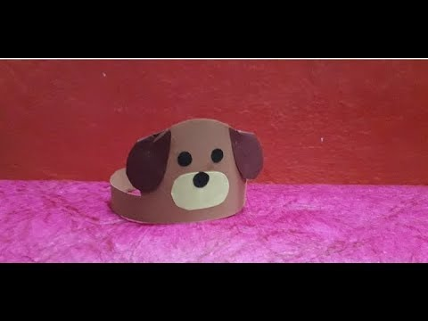 How to make puppy dogcrown from paper || DIY  paper puppy dog crown || kids craft