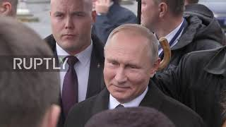 France: Putin lays flowers at WWI memorial in Paris