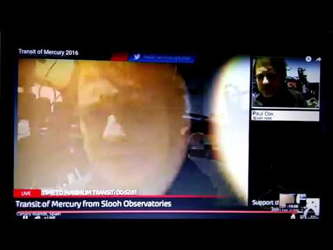 Slooh Astronomer Admits Second Sun In Live Broadcast Of Mercury Transit!
