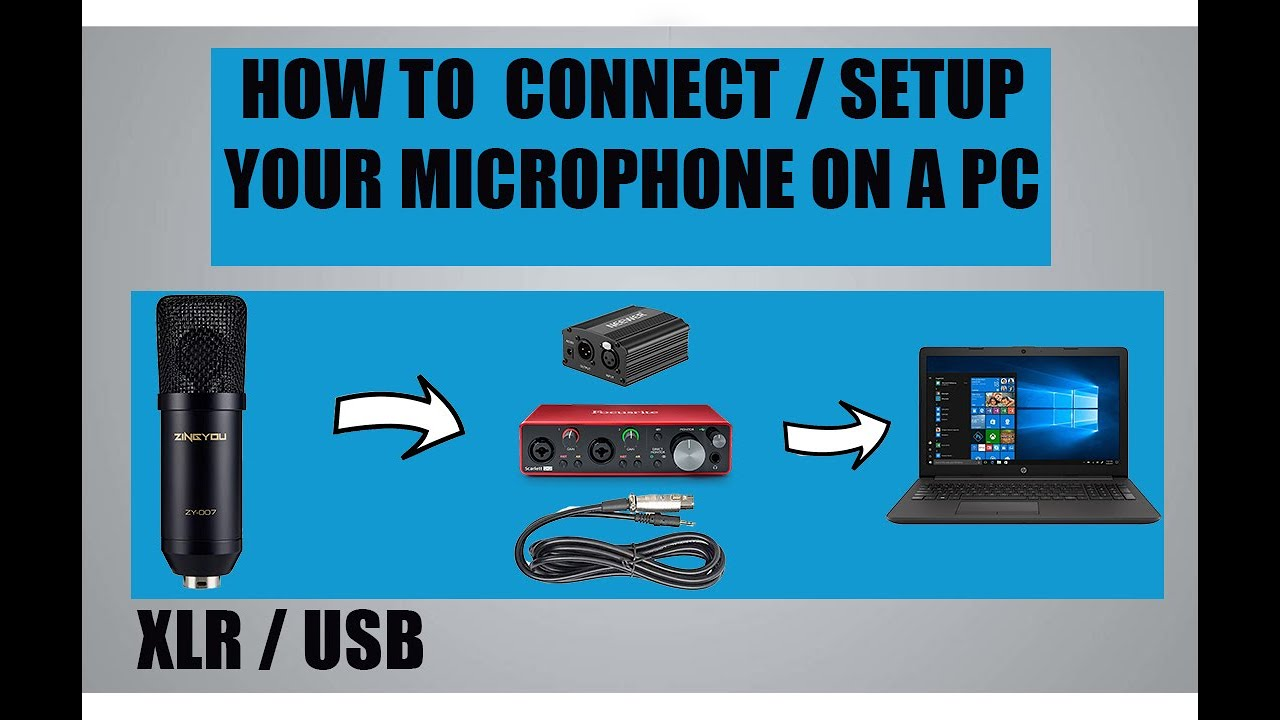 how to connect wireless microphone