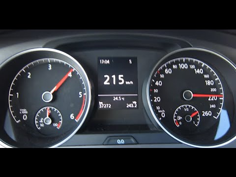 VW Golf 7 1.6 TDI Top Speed | 2013 Model - YouTube