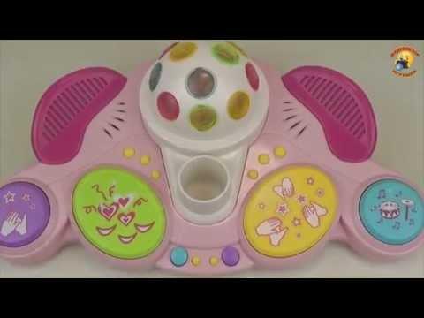 Детский микрофон с диско шаром. Игрушка для девочек / Childrens microphone with disco ball