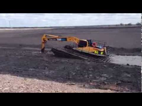 M4 moving in tailings dam