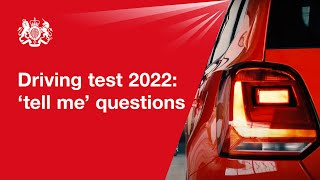 'Show me, tell me': tell me questions 2018: official DVSA guide