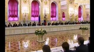 """Часы и начало программы """"Время"""" (Первый канал, 05.09.2005)"""