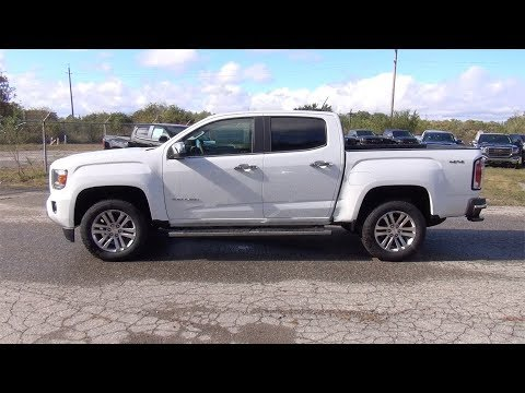 2018 GMC CANYON CREW CAB SHORT BOX 4-WHEEL DRIVE SLT - SUMMIT WHITE