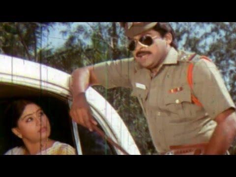 Chiranjeevi Vijayashanthi Comedy From Manchi Donga