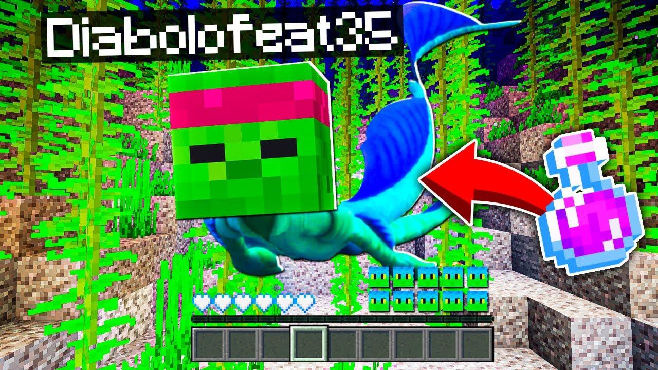 Download Je me TRANSFORME en LUCA pour TUER LUCA PRÉHISTORIQUE avec une potion Minecraft ! 🧜 Famille Diabolo