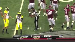 2012 Cowboys Classic - #8 Michigan vs. #2 Alabama Highlights