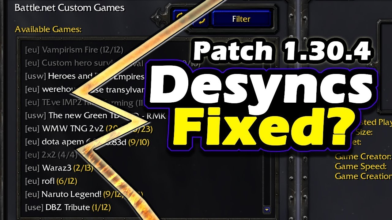 Warcraft 3 News Patch 1 30 4 Released Desyncs Fixed Youtube