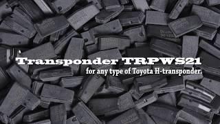Het maken van Toyota H toetsen met behulp van TRPWS21 transponder en Tango