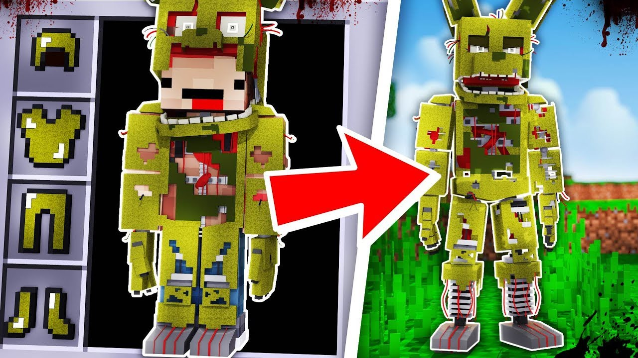 How To Become Springtrap From Five Nights At Freddy U0026 39 S - Minecraft Fnaf